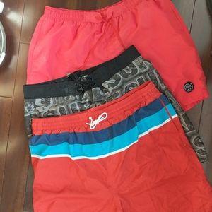 Old Navy 3/$12 bathing suit swim trunks lot XXL XL
